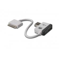 CAVO DI RICARICA DIGITUS PER APPLE CON PORTA AGGIUNTIVA USB