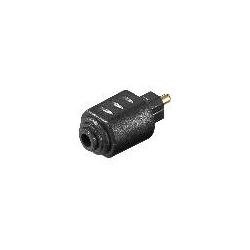 ADATTATORE AUDIO TOSLINK MASCHIO - 3,5MM. MINI JACK FEMMINA