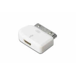 ADATTATORE DIGITUS MICRO USB PER IPHONE COLORE BIANCO