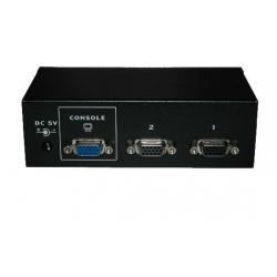 DATA SWITCH PER 2 PC (PS2 O USB) CON 1 MOUSE, 1 TASTIERA (PS2 O USB) E 1 VIDEO VGA, 2 SET DI CAVI INCLUSI