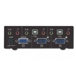 DATA SWITCH PER 2 PC USB/VGA CON 1 TASTIERA E MOUSE USB E 1 MONITOR VGA CON CONDIVISIONE AUDIO
