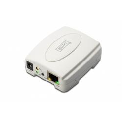 """PRINT SERVER USB 1 PORTA - CONNETTORE RJ45 FEMMINA E USB """"A"""" FEMMINA"""
