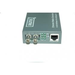 CONVERTITORE 10/100/1000 GIGABIT MEDIA CONVERTER RJ45 - FIBRA OTTICA ST 1000Base-SX,