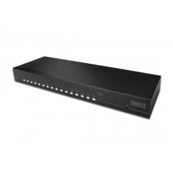 SWITCH KVM USB/PS2/VGA CON 16 PORTE RJ45 PER COLLEGAMENTO LOCALE