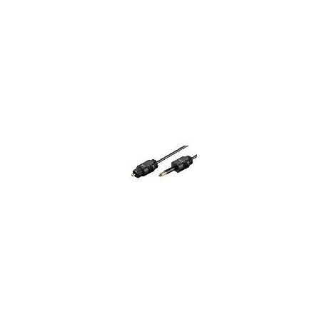 CAVO TOSLINK - MINI PLUG 3,5MM. MT 2