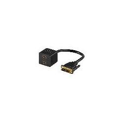 SDOPPIATORE DVI-D MASCHIO 18+1 - 2 CONNETTORI HDMI FEMMINA