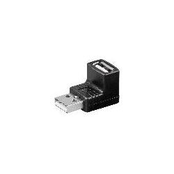 ADATTATORE USB 2.0 ANGOLATO MASCHIO/FEMMINA