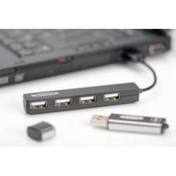 MINI HUB USB 2.0 4 PORTE
