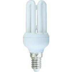 *LAMPADA A RISPARMIO ENERGETICO 9 WATT LUCE FREDDA (6400K) E14 MICRO 4 TUBI