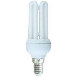 *LAMPADA A RISPARMIO ENERGETICO 15 WATT LUCE CALDA (2700K) E14 MICRO 4 TUBI