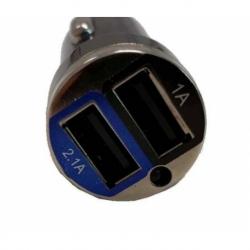 CARICABATTERIA DA AUTO CON 2 PRESE USB 5 VOLT 2,1 AMPERE