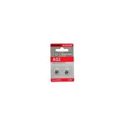 BATTERIE ALCALINE 1.5V A BOTTONE 7.85X2.6 MM. LP726, AG2, G2, LR59, 196, GP96A, SR726W BLISTER 2 PEZZI (A AG2-BP2)