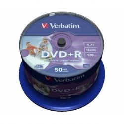CONFEZIONE 50 DVD+R STAMPABILI VELOCITA' 16X CAPACITA' 4.7GB