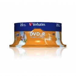 CONFEZIONE 25 DVD-R STAMPABILI VELOCITA' 16X CAPACITA' 4.7GB