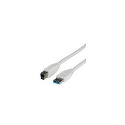 CAVO USB 3.0 CONNETTORI A-B 9 POLI MT. 1,80 COLORE BIANCO