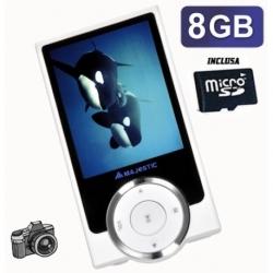 MULTIMEDIA PLAYER CON FOTOCAMERA DIGITALE E ALTOPARLANTE MICRO SD 8GB LCD 2.4INCH COLORI