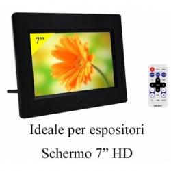 CORNICE DIGITALE 7 EDGE LED SD/MMC/SDHC USB BLACK