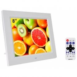 CORNICE DIGITALE 8 EDGE LED SD/MMC/SDHC USB WHITE