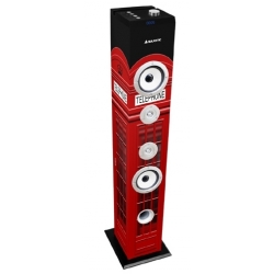 CASSA A TORRE BASS 60W SUBWOOFER BLUETOOTH 2.1 FM/USB/SD/MMC AUX RED TELEPHONE BOX