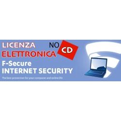 F-SECURE INTERNET SECURITY 1PC 12 MESI LIC ELETTRONICA