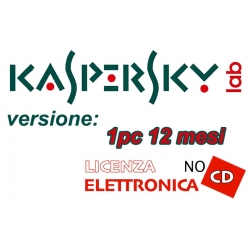 KASPERSKY ANTIVIRUS 1PC 12 MESI LIC ELETTRONICA