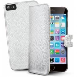 CUSTODIA IN ECOPELLE FLIP COVER PER IPHONE 6/6S WHITE