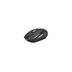 MOUSE WIRELESS 6 TASTI NERO GOMMATO RICEVITORE USB