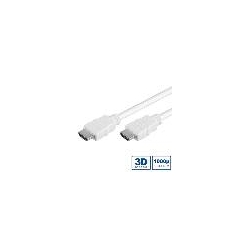 CAVO HDMI 3D HIGH SPEED CON ETHERNET MT 1 BIANCO