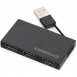 HUB USB2.0 4 PORTE BLACK