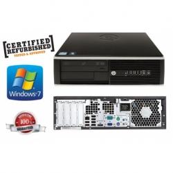 COMPAQ PRO 6200 SFF I3-2100 3.1GHZ 4GB 250GB W7PRO BLACK GAR@6MESI REFURBISHED CON SCATOLA
