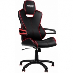 SEDIA GAMING E200 RACE IN ECOPELLE BLACK/RED