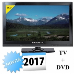 TV LED 19.5 HD DVB-T/T2 HD DVB-S/S2 HD USB 12V DVX INTEGRATO BLACK