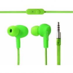 AURICOLARE IN-EAR STEREO SPORT CON MICROFONO GREEN