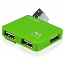 MINI HUB USB2.0 4P GREEN
