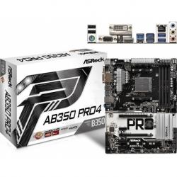 AB350 PRO4 ATX DDR4 SATA3 M.2 USB3.0 AM4 VGA DVI HDMI