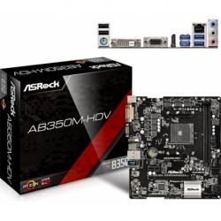 AB350M-HDV U-ATX DDR4 SATA3 M.2 USB3.0 AM4 VGA DVI HDMI