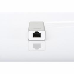 HUB A 3 PORTE USB 3.0 E ADATTATORE LAN GIGABIT DIGITUS