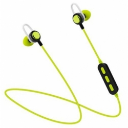 CUFFIA BLUETOOTH IN-EAR PHONE E MICROFONO GREEN