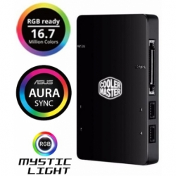 HUB LED CONTROLLER RGB SATA 4XUSB X VENTOLE E STRISCIE LED A 4PIN